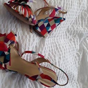 Kate Spade Multi color wedge heels